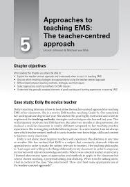 approaches to teaching ems the teacher centred approaches pdf