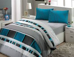 Teal And Grey Bedding Sets Simple Bedroom With Rectangles Pattern Bedding Grey Teal