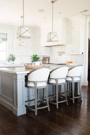 get your kitchen decor ready for winter w these white bar stools