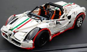 koenigsegg lego alfa romeo 4c spider made with legos