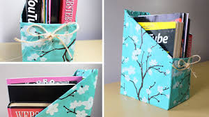 How To Make Decorative Gift Boxes At Home Diy Magazine Holder Youtube