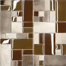 kitchen mosaic backsplash brown metal glass modern kitchen mosaic backsplash tile modern