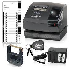 amazon com lathem tru align time clock and stamp 5 7