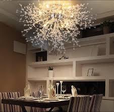 plafonnier pour cuisine moderne pissenlit led encastré plafonnier en cristal clair le