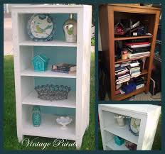 an old ethan allen bookcase that was sitting in a closet has a