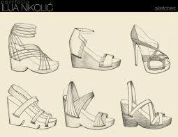 women shoes design sketch simple blue women shoes design sketch