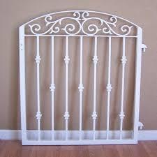 ornamental iron garden gate metal scroll work cast iron collars