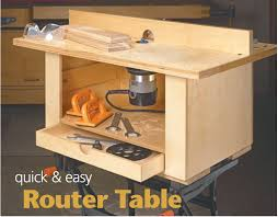 quick and easy router table from woodsmith u2026 pinteres u2026
