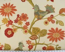 turquoise pink desert flowers fabric