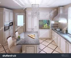 Art Deco Kitchen Cabinets Art Deco Kitchen Painted Furniture Polished Stock Illustration