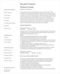 Resume Template For Restaurant Resume Catering Server Resume Samples Restaurant Sample 7