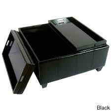 Large Storage Ottoman Furniture Large Ottoman Tray On Black Leather Ottoman For Home