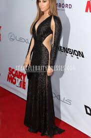 ashley tisdale black sequin semi formal evening dress scary movie