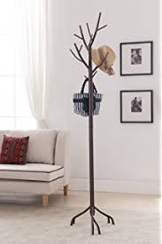 Metal Hall Tree Bench Amazon Com Wooden Entryway Tall Hall Tree Bench Coat And Hat Rack