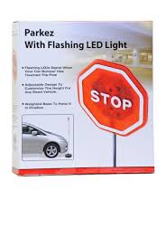 stop sign with led lights fireflybuys com parkez flashing led light parking stop sign for