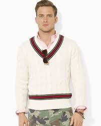 polo ralph lauren black friday ralph lauren polo cableknit cricket sweater in natural for men lyst
