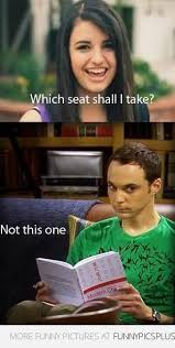 Rebecca Black Memes - rebecca black vs sheldon cooper which seat shall i take funny