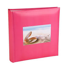 cerise of pearl photo album with memo writing space