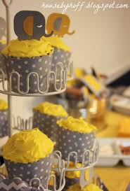 yellow baby shower ideas yellow and gray elephant baby shower home party theme ideas