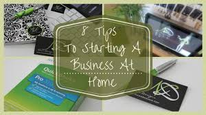 home based business 8 tips to starting a business at home youtube