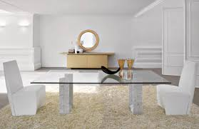 Modern White Dining Room Set by Modern Glass Dining Room Tables Agrandmaslove Pertaining To Modern