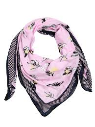 kenzo cactus printed cotton scarf light pink tdu1