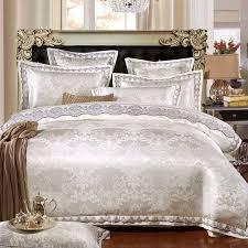 White Silk Bedding Sets Nordic Silk Bedding Set Tencel Tribute Jacquard Silk Cotton Duvet