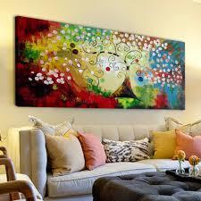 colorful home decor iarts colorful christmas tree wall art canvas home decor handmade