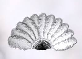 feather fan second marketplace white animated ostrich feather fan