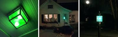 green front porch light green light front porch what does a green light on your front porch