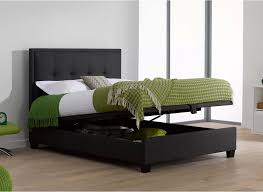 evert oatmeal fabric upholstered ottoman bed frame ottoman bed