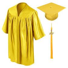 cap and gown for graduation gold preschool cap gown tassel gradshop
