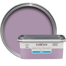 B Q Paint Colour Chart Bedrooms Colours Violette Matt Emulsion Paint 2 5l Departments Diy At B U0026q