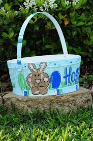 painted easter baskets 16 best easter images on personalized easter baskets