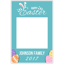 happy easter bunny ears personalized selfie frame photo booth