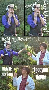 Hold My Flower Meme - hold my flower wtnv cosplay meme by theanimeotakustar on deviantart