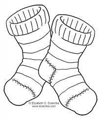 sock coloring page inside omeletta me