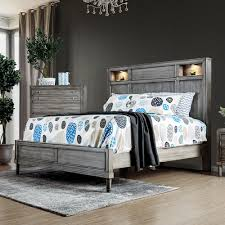 Eastern Accents Bedding Outlet Furniture Of America Daphne Eastern King Bed In Gray