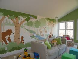forest friends paint by number wall mural forest friends wall paint by number wall murals forest friends wall mural