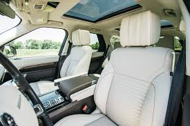 land rover discovery hse interior an orange 2017 land rover discovery joins the four seasons fleet