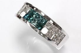 Blue Diamond Wedding Rings by 1 7 Carat Blue Diamond Wedding Ring 14k Diamond Rings For Women