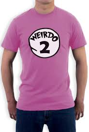 weirdo 2 costume t shirt halloween party weirdo 1 2 thing matching