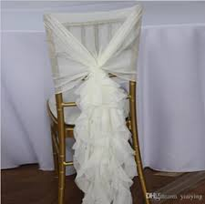 Tulle Wedding Decorations Discount Tulle Wedding Chair Sashes 2017 Tulle Wedding Chair