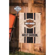 evergreen enterprises harley davidson bar and shield burlap