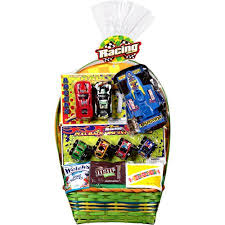 premade easter baskets formula one racing easter basket with toys and assorted candies