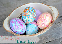 wax easter egg decorating creating colorful easter eggs with melted crayons burger
