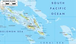 Map Of Oceania Physical Map Of Solomon Islands Ezilon Maps