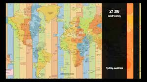 Time Zone Map World Clock by World Time Zone Clock Youtube