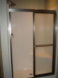 Shower With Door How To Install A Shower Door On A Prefab Shower How Tos Diy