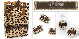 leopard print party supplies leopard party ideas big dot of happiness